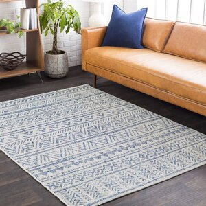 Fonwhary Global Denim Indoor/Outdoor Area Rug