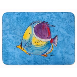 Tropical Fish Memory Foam Bath Rug