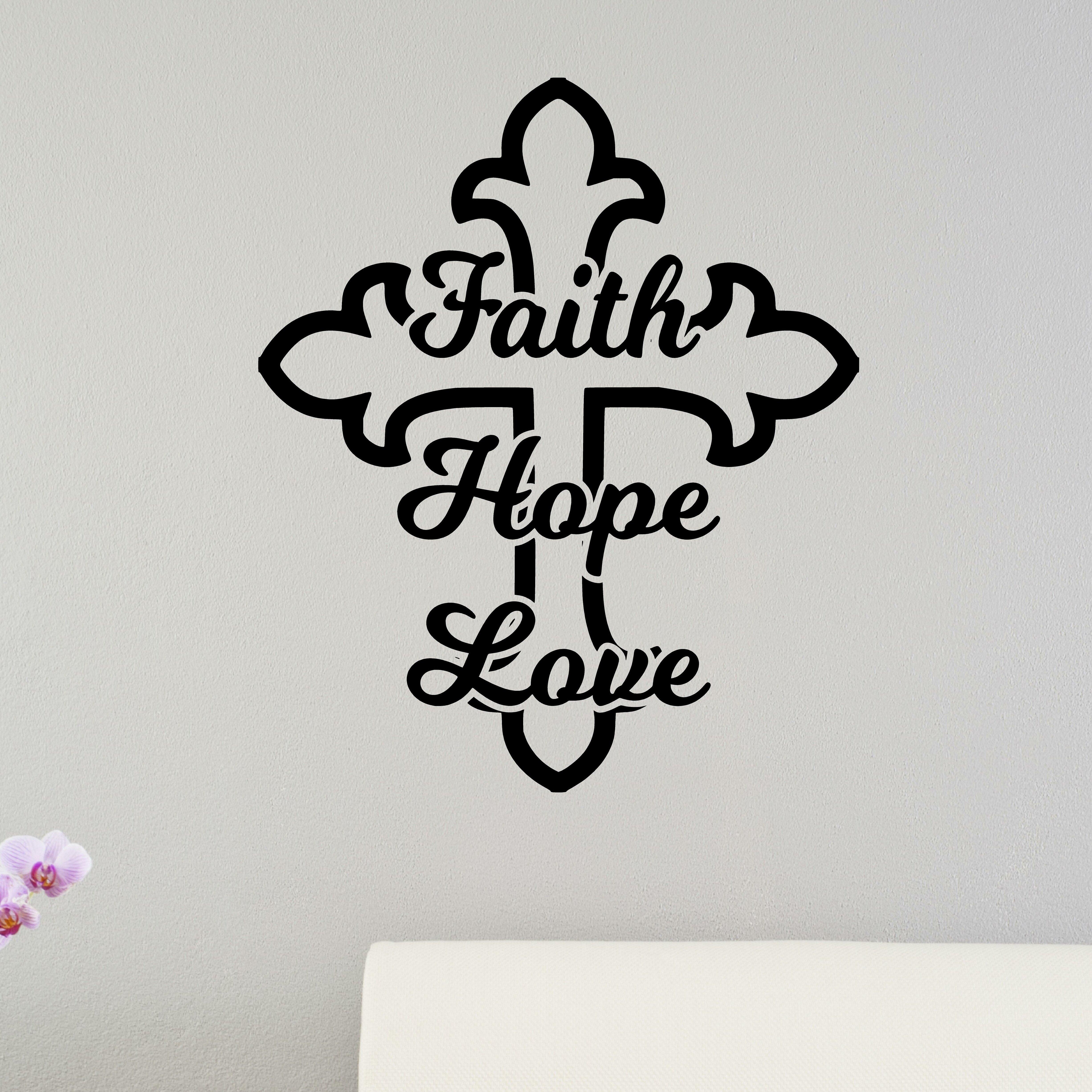 Enchantingly Elegant Faith Hope Love Cross Christian Bible