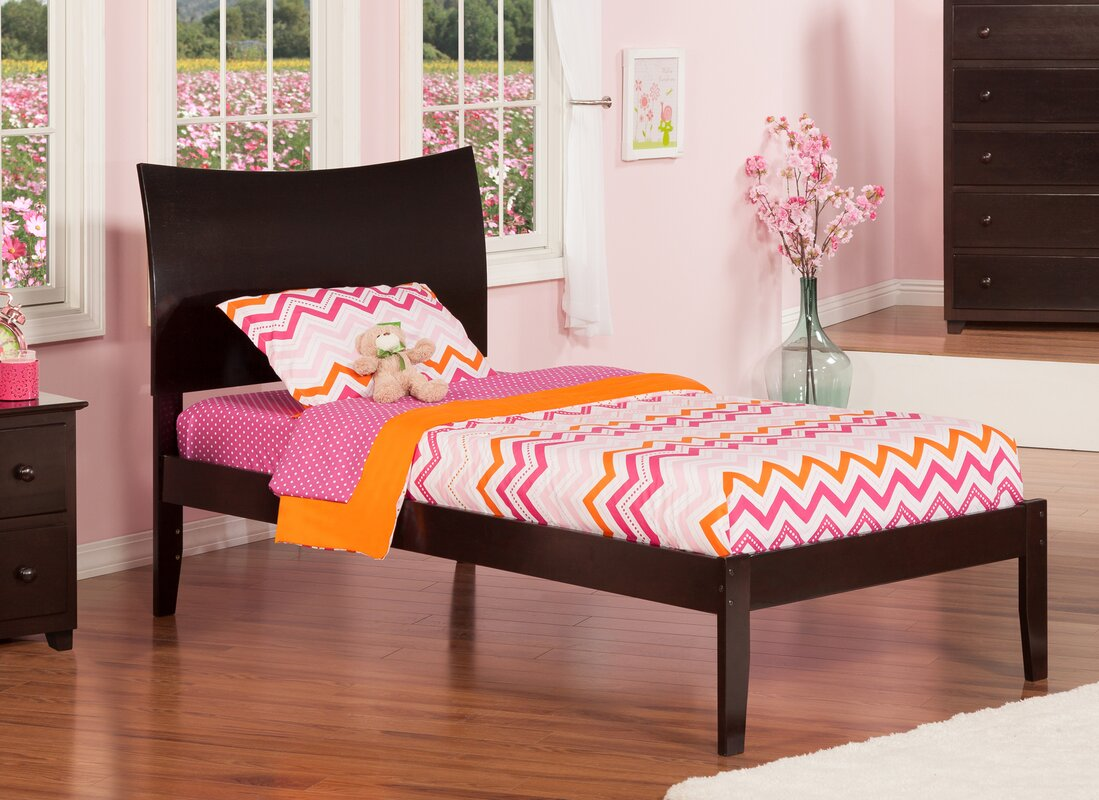 Atlantic Furniture Soho Extra Long Twin Sleigh Bed with Open Foot ...