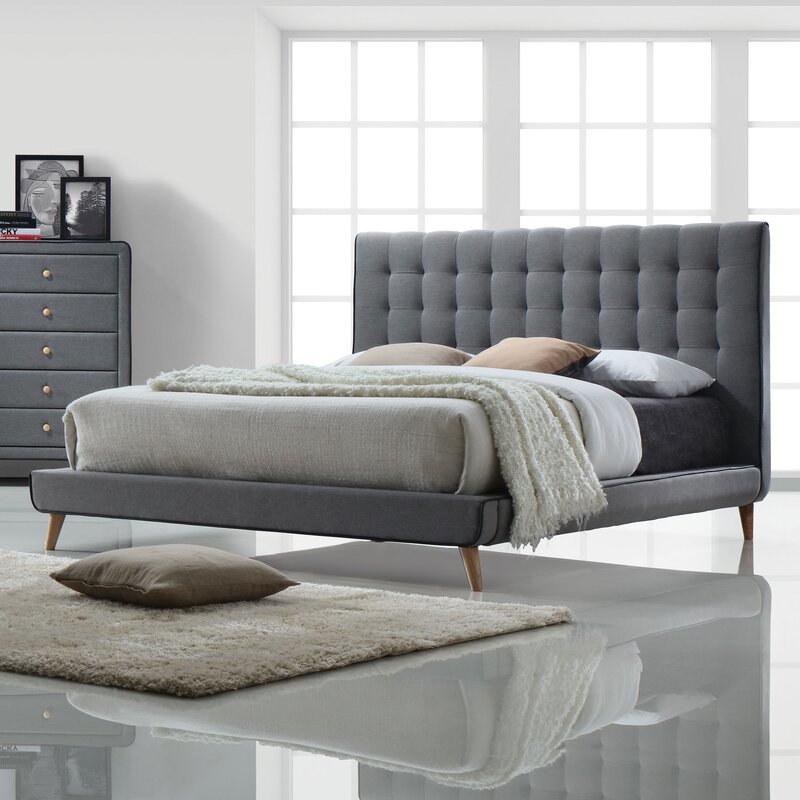 Mercer41 Minnesota Upholstered Platform Bed & Reviews | Wayfair