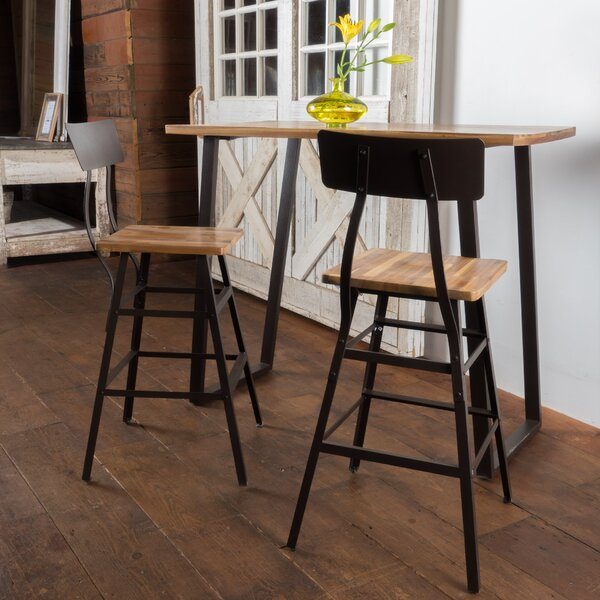 Laurel Foundry Modern Farmhouse Islemade 3 Piece Bar Table Set u0026 Reviews | Wayfair & Islemade 3 Piece Bar Table Set