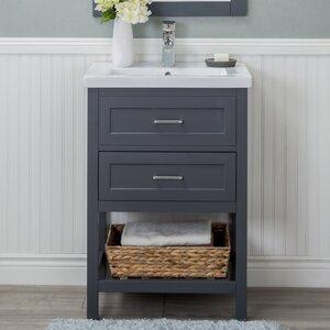 Durrant Ceramic 1 Soft Close Drawer Drop-In Sink Single Open Bottom Vanity