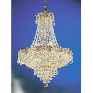 Hollywood regency chandelier wayfair regency ii 8 light empire chandelier mozeypictures Choice Image