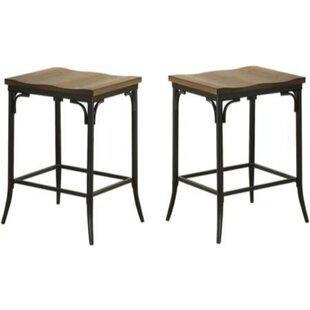 Brasfield 2 Piece Metal Counter Height Bar Stool Set (Set of 2)