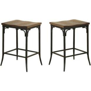 Brasfield 2 Piece Metal Counter Height Bar Stool Set (Set Of 2) Wonderful