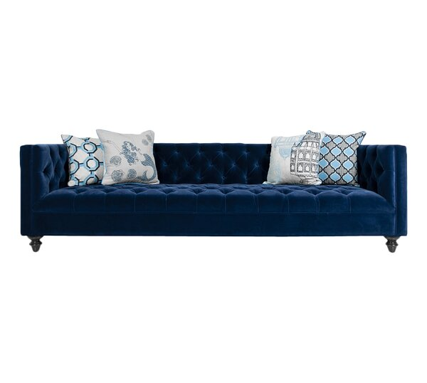 Chesterfield couch  ModShop Navy Chesterfield Sofa & Reviews | Wayfair