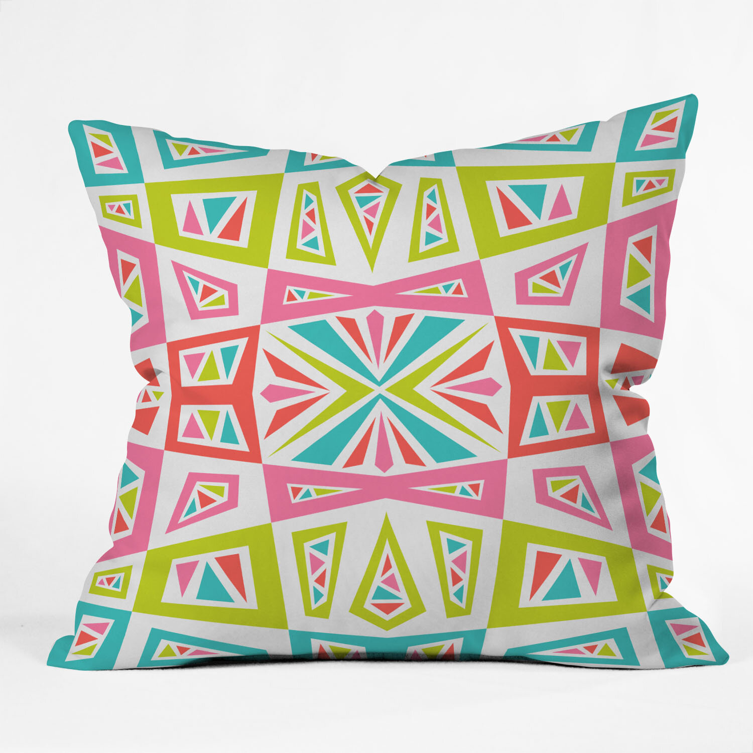 East Urban Home Andi Bird Checkmate Kaleidoscope Throw Pillow &