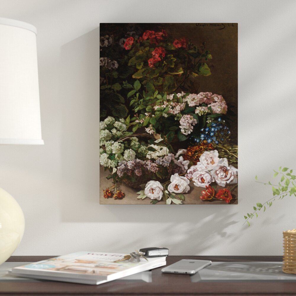 East Urban Home Spring Flowers 1864 By Claude Monet Graphic Art