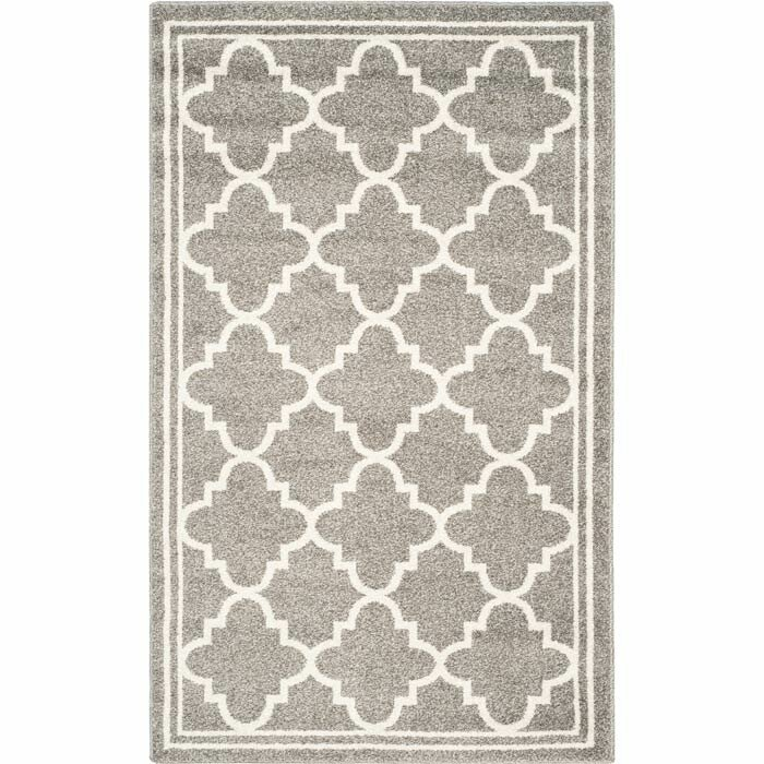 Goodner Dark Grey Beige Indoor Outdoor Area Rug