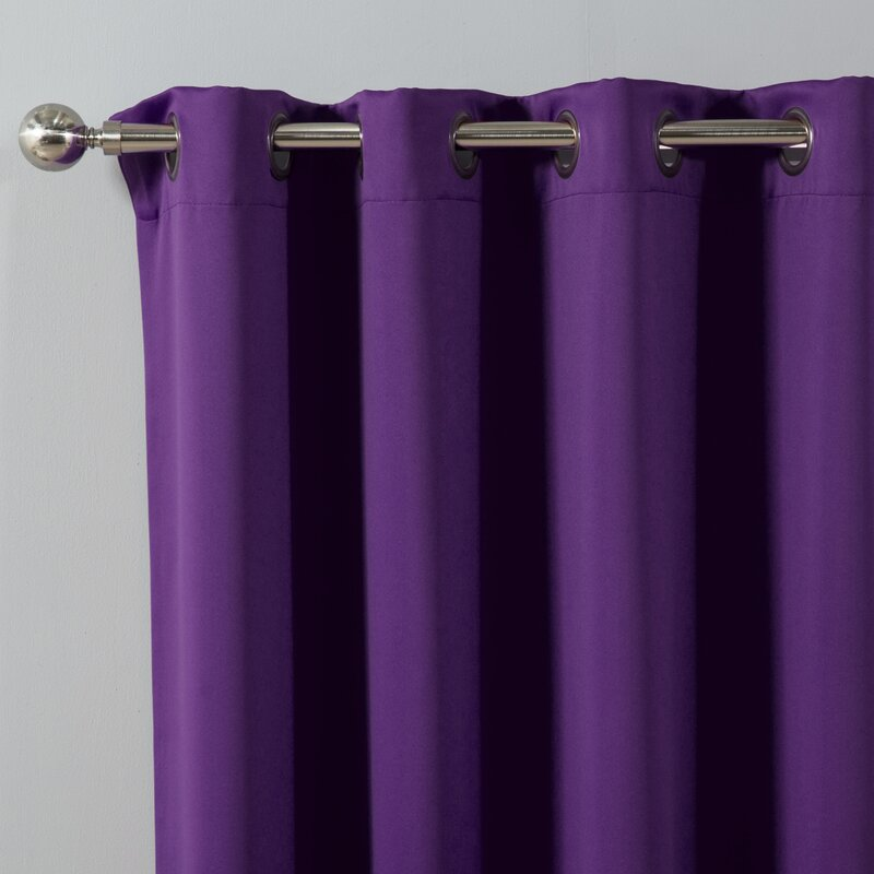 Best Home Fashion, Inc. Solid Blackout Thermal Grommet Curtain ...