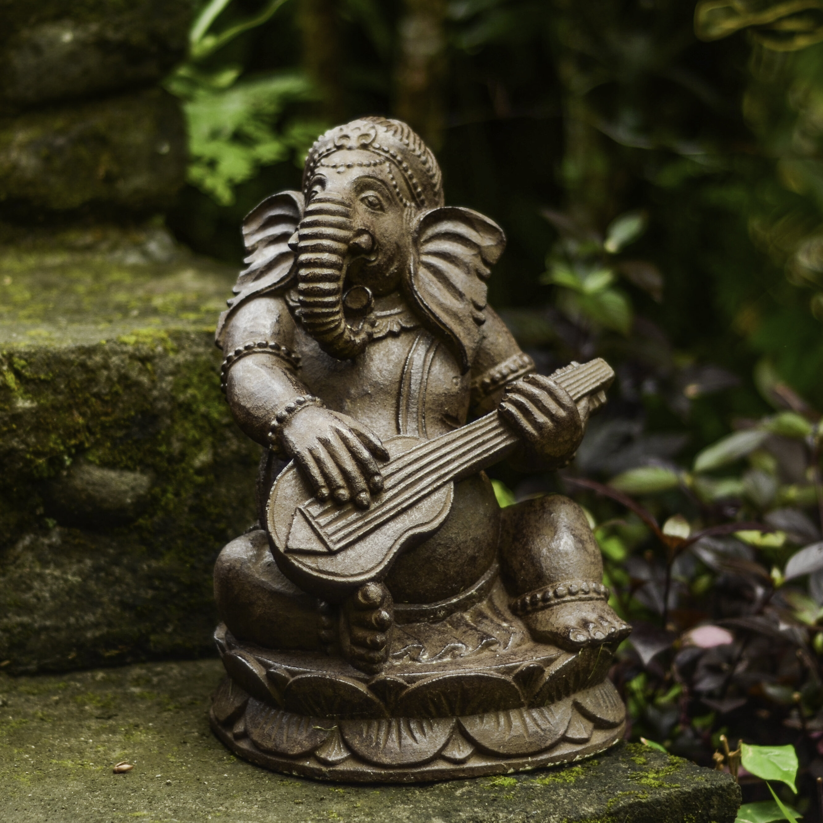 My Spirit Garden Volcanic Ash Tabla Ganesha Statue   Wayfair