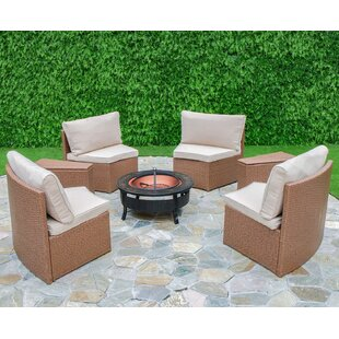 Mendon 6 Piece Conversation Set With Cushions