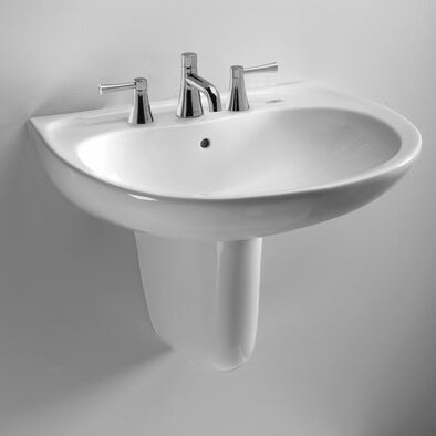 """Supreme Ceramic 22"""" Wall Mount Bathroom Sink with Overflow"""