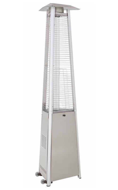 Commercial Glass Tube 38,000 BTU Propane Patio Heater