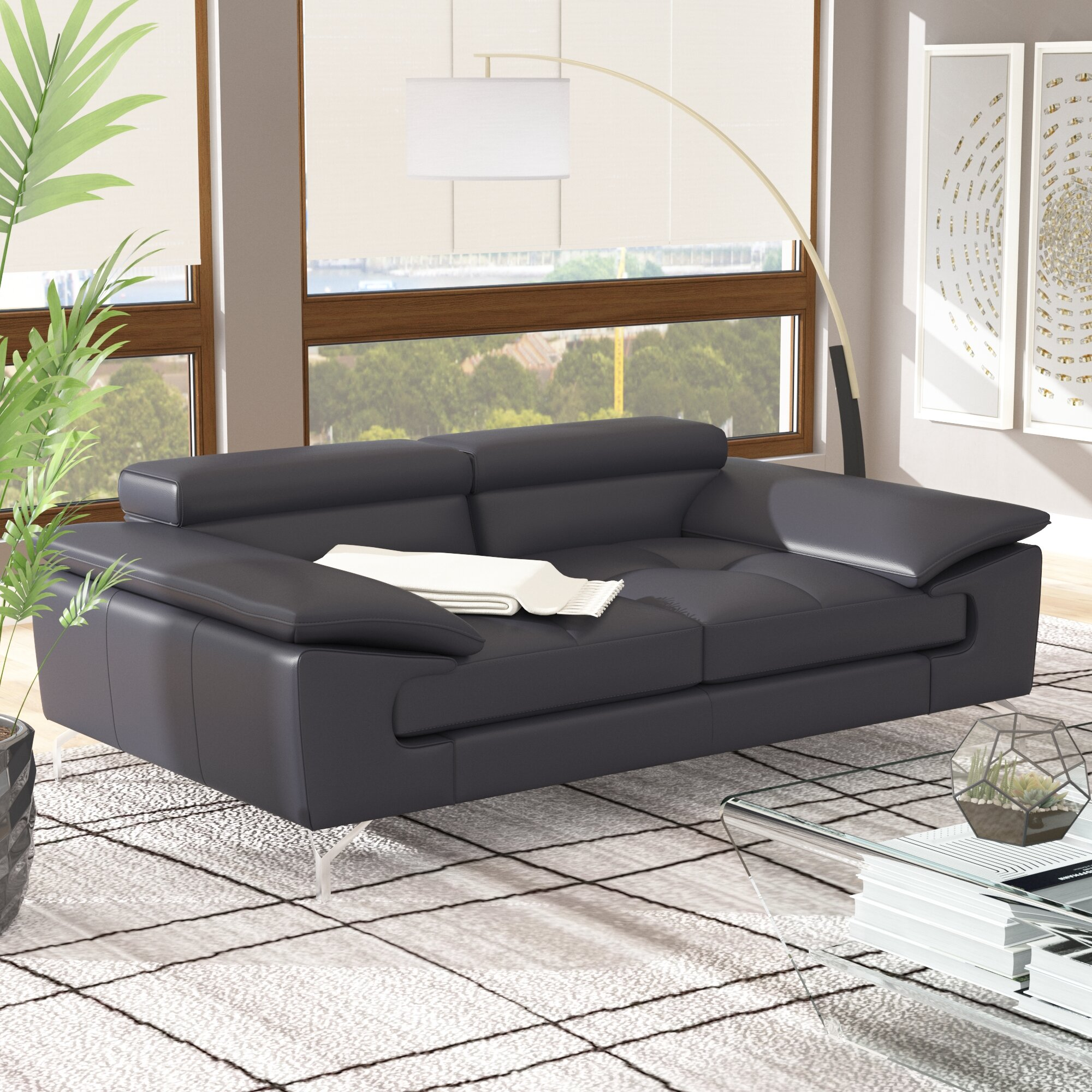 Super Modern Contemporary Italian Leather Sofa Sets Allmodern Home Interior And Landscaping Thycampuscom