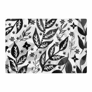 Li Zamperini Foliage Gray/White/Black Area Rug