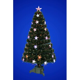 fibre optic 35ft green artificial christmas tree with stand