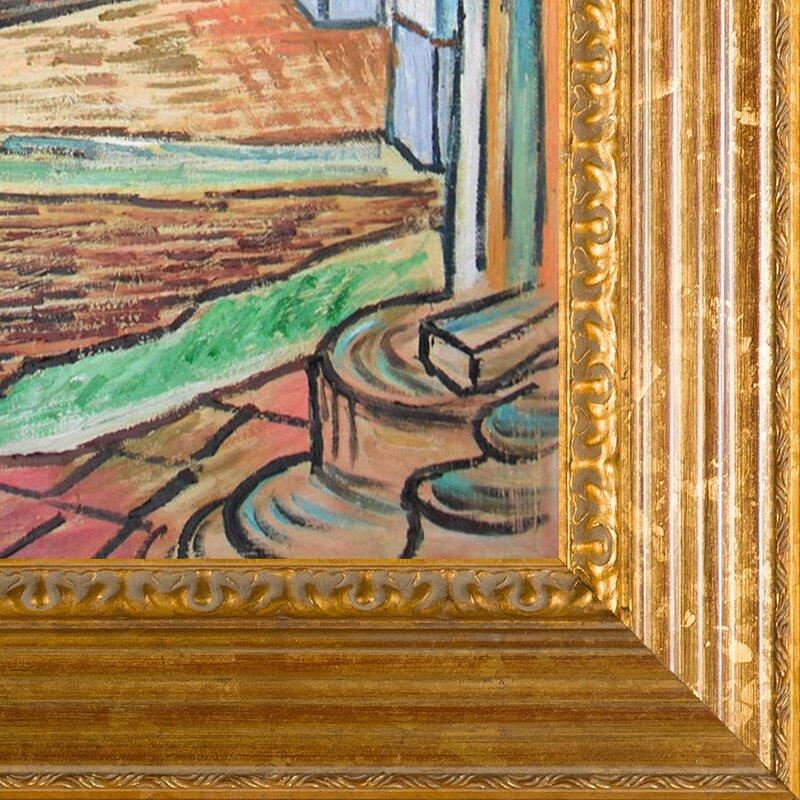 Corridor of Saint-Paul Asylum in Saint-Remy by Vincent Van Gogh Framed Painting