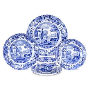 Blue Italian 5 Piece Place Setting Service for 1  sc 1 st  Wayfair & Italian Style Dinnerware | Wayfair