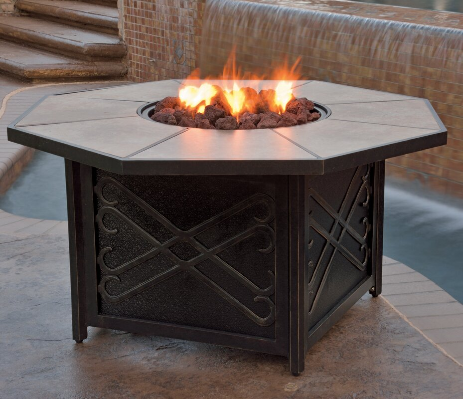 Jeremiah Gas Fire Pit Table
