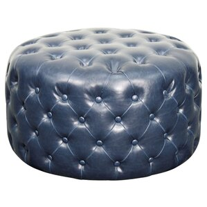 Lulu Round Tufted Ottoman by New Pacific Direct
