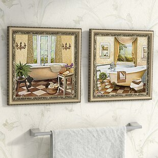 French Bath IIu0027 2 Piece Framed Acrylic Painting Print Set Under Glass