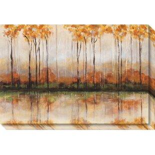 u0027treeline u0027 painting print on wrapped canvas allen roth hardware   wayfair  rh   wayfair
