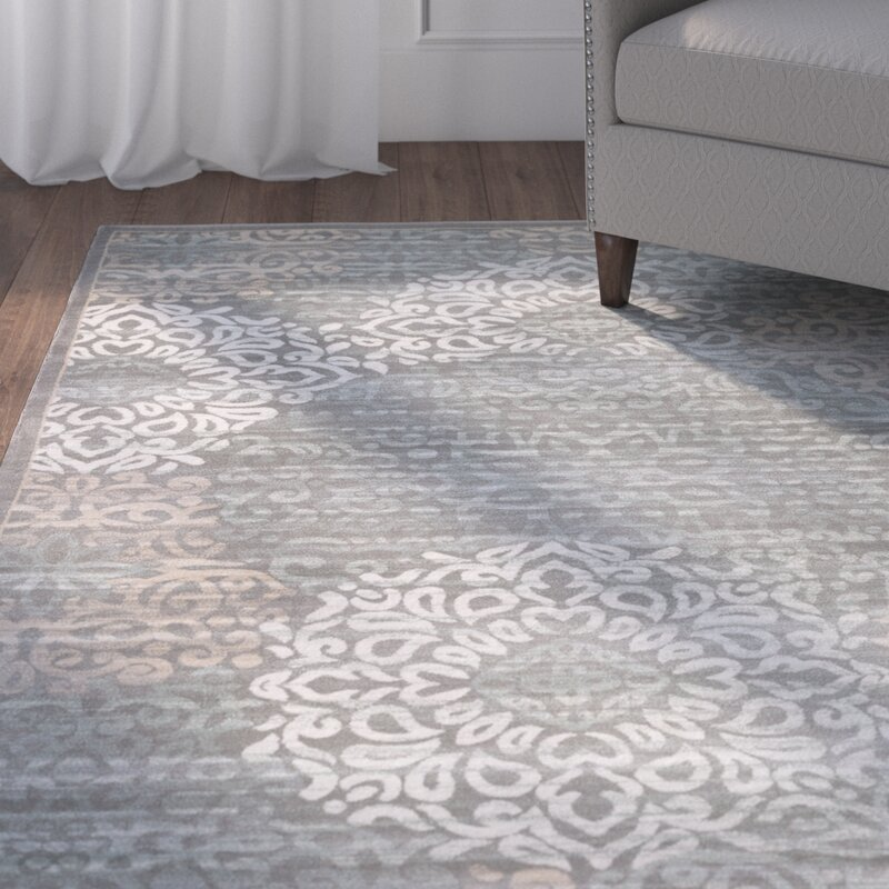 Charlton Home Ackermanville Gray Area Rug Amp Reviews Wayfair