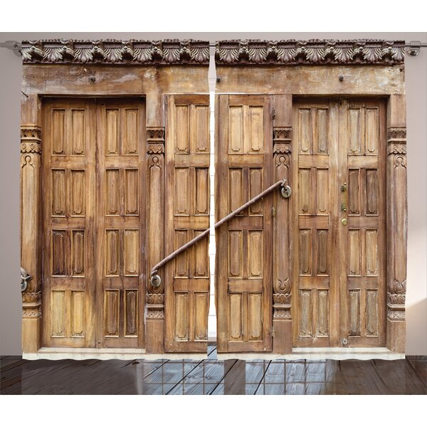 East Urban Home Rustic Traditional Door In Nepal With Retro Carving