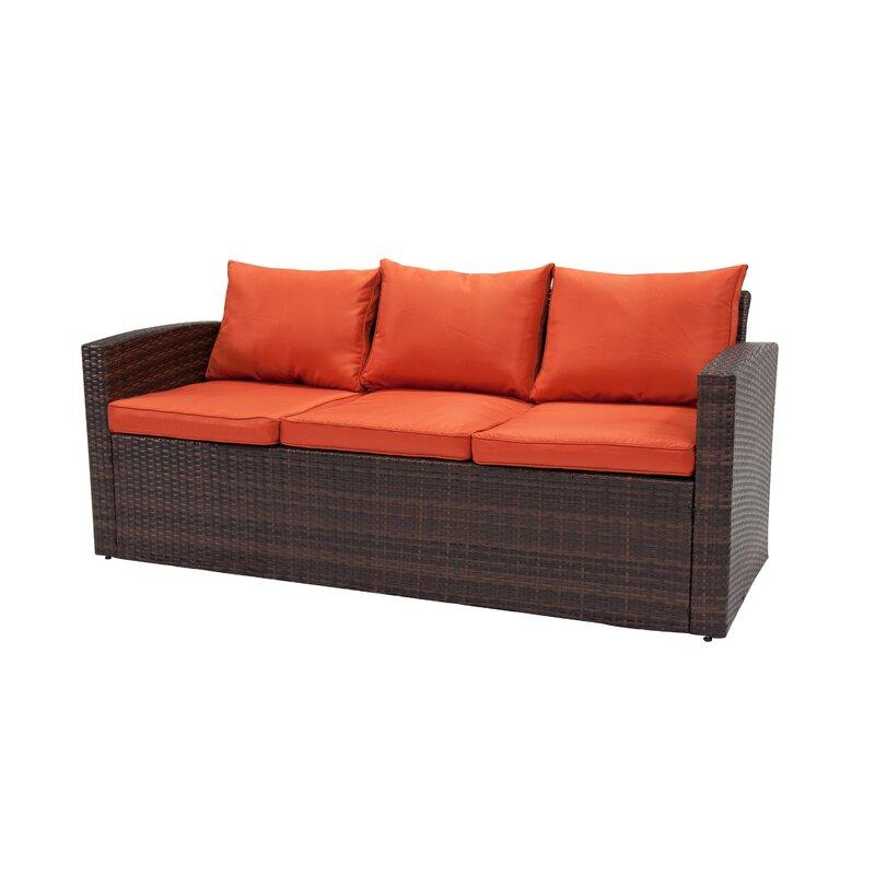 Sol 72 Outdoor Arlington 4 Piece Rattan Sofa Seating Group With