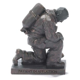 Praying Firefighter Figurine