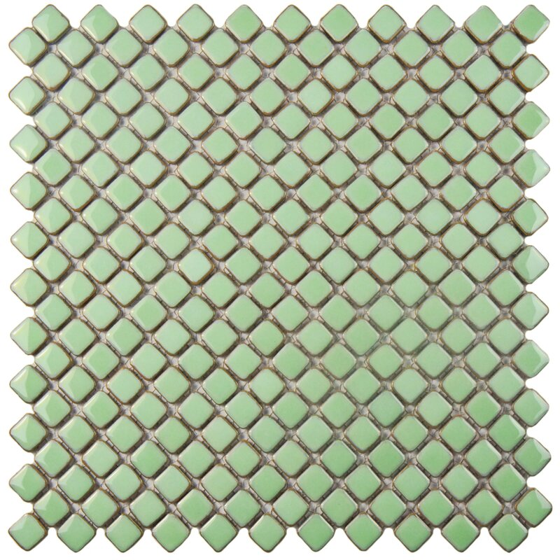 Gem 0 71 X Porcelain Mosaic Tile In Glossy Light Green