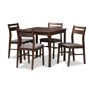 Raphael Modern and Contemporary Upholstered 5 Piece Dining Set