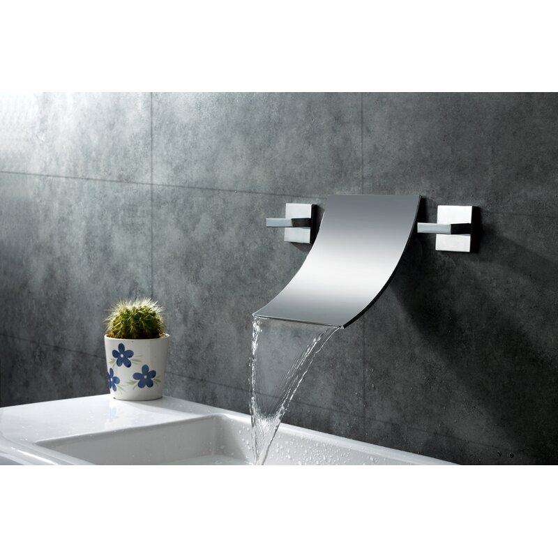 Wall Mount Waterfall Bathroom Sink Faucet
