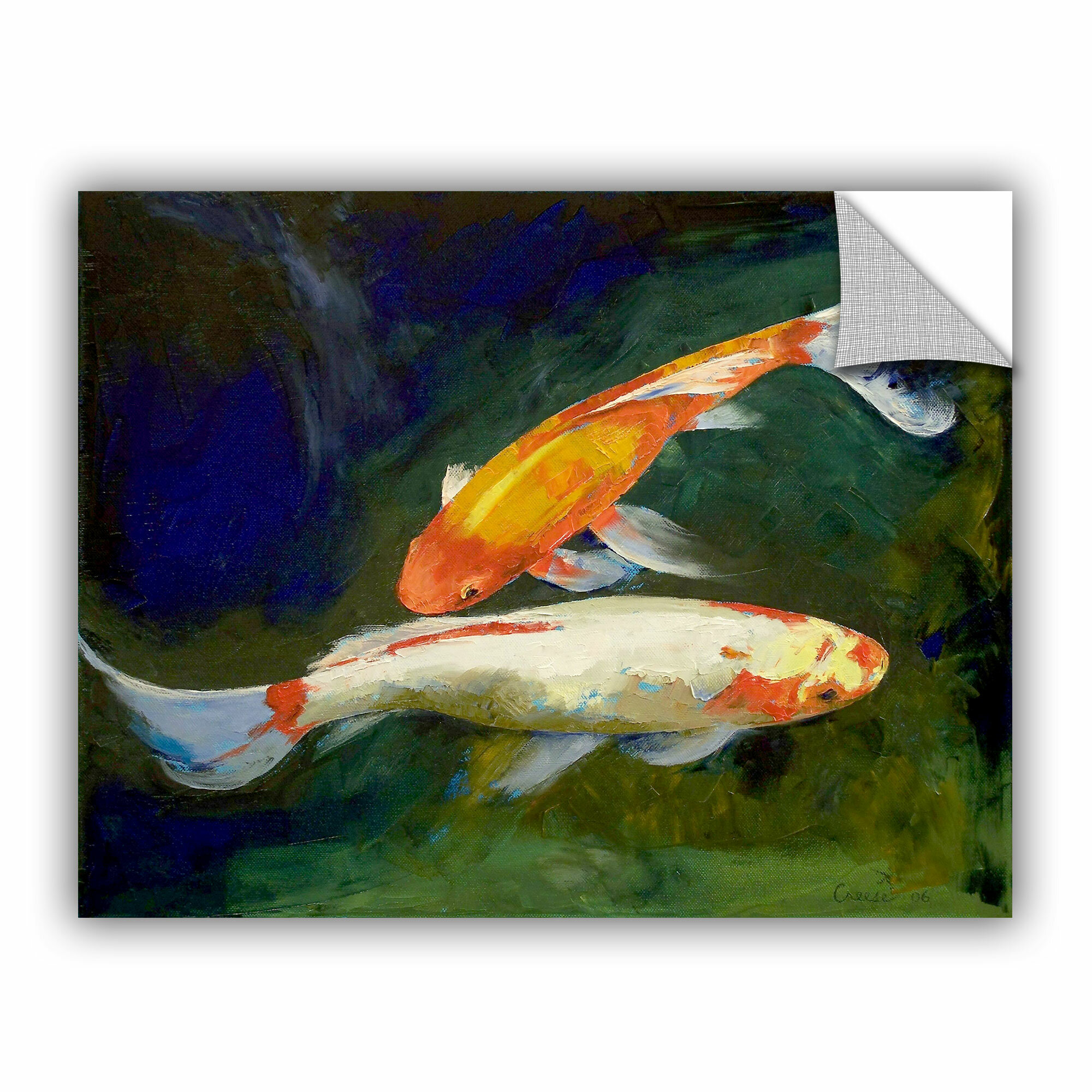 ArtWall ArtApeelz Feng Shui Koi Fish By Michael Creese