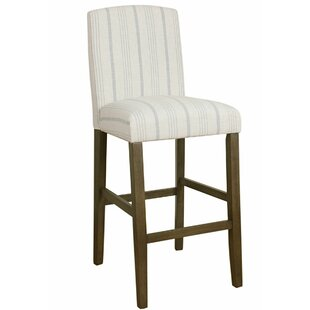 Destini Fabric Upholstered Wooden Bar Stool