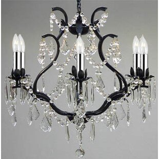 Black wire chandelier wayfair save to idea board aloadofball Choice Image