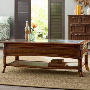 Jetta Rattan Coffee Table by Beachcrest Home