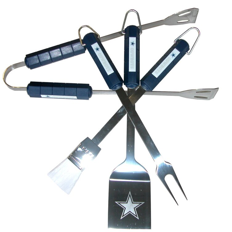 Siskiyou Products Nfl 4 Piece Bbq Grill Tool Set Amp Reviews