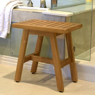 Spa Teak Wooden Free Standing Shower Seat