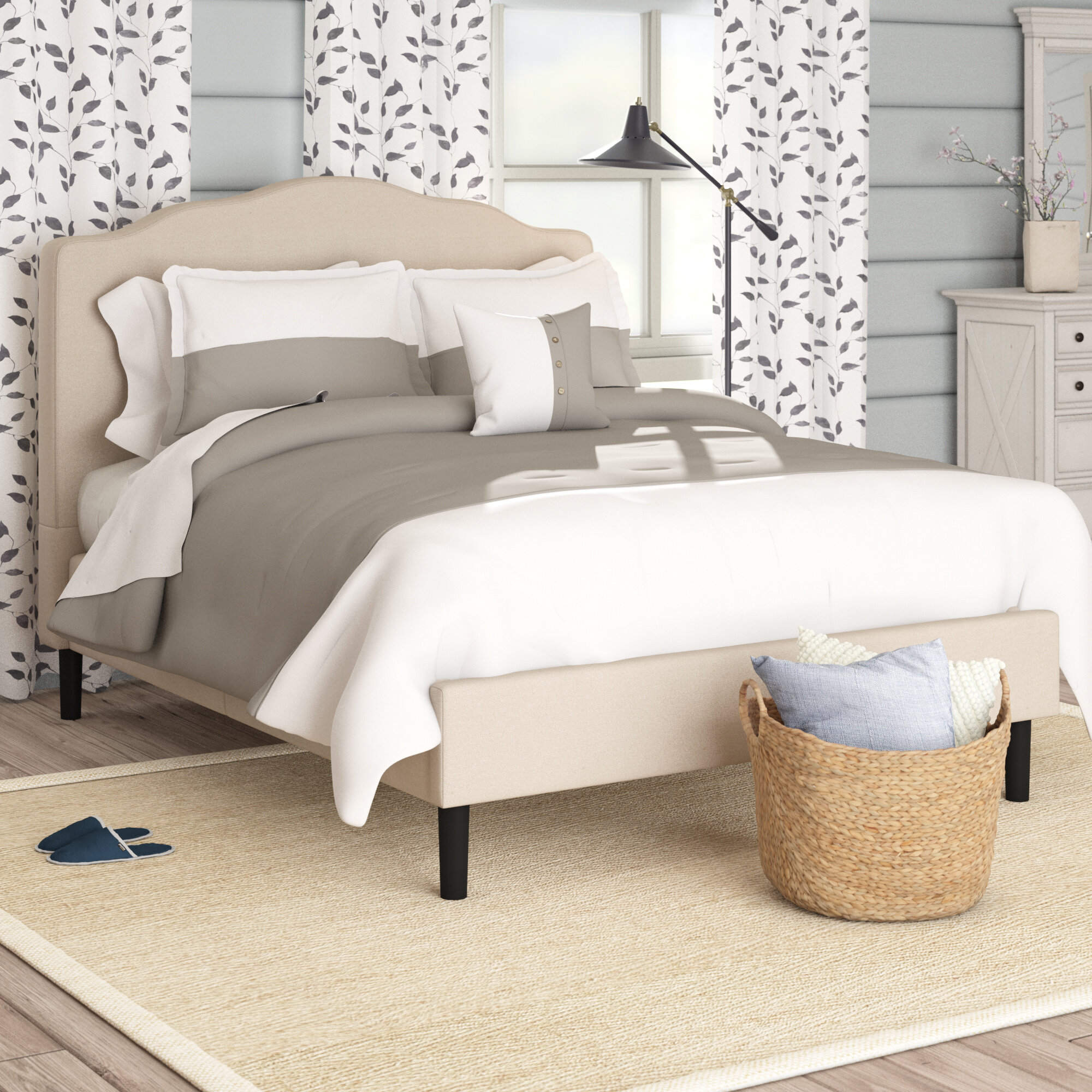 4a56eca49a Laurel Foundry Modern Farmhouse Hoopeston Scalloped Upholstered Platform Bed  & Reviews | Wayfair