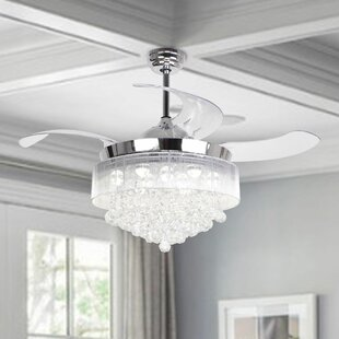 ceiling fan with bright light wayfair rh wayfair com
