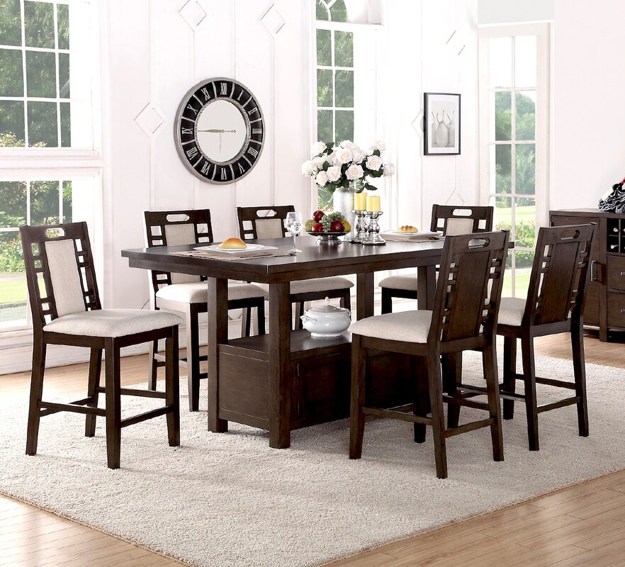 Winston Porter Nika 7 Piece Counter Height Dining Set & Reviews ...