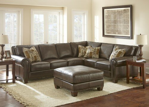 Darby Home Co Leather Sectional Amp Reviews Wayfair