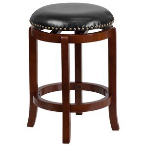 Hadenson 25'' Swivel Bar Stool by Alcott Hill