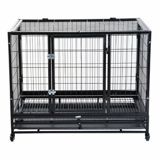 Pawhut Dog Cage with Wheels by PawHut