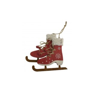 0f8d93d7a18e2 Wooden Ice Skate Hanging Figurine