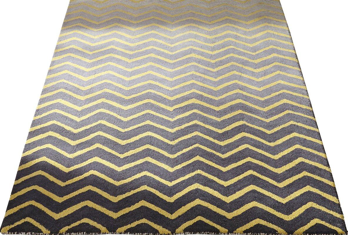 modernmoments handgetufteter teppich claar in grau gelb. Black Bedroom Furniture Sets. Home Design Ideas