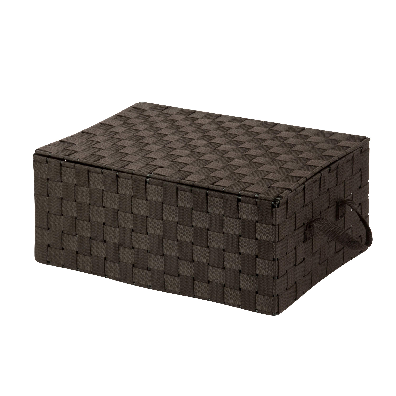 Wildon home hinged lid woven storage box reviews wayfair for Wayfair store